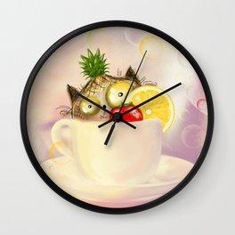 frut tea  Wall Clock