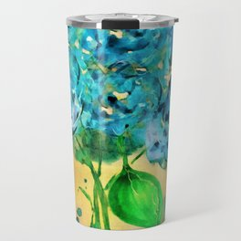 Blue Heaven Hydrangea by Barbara Chichester Travel Mug