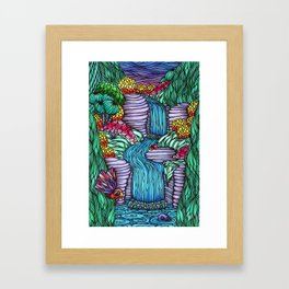 Falling Water Framed Art Print