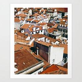 Rooftops of Lisbon Art Print