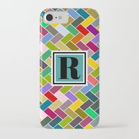 monogram iPhone & iPod Cases featuring R Monogram by mailboxdisco