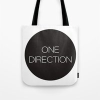one direction Tote Bags featuring One Direction by harrystyless