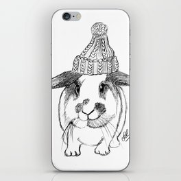 Winter bunny iPhone Skin