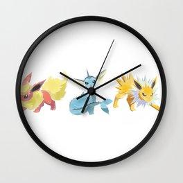 PKMN : JOLTEON + FLAREON + VAPOREON Wall Clock