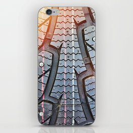 Background tread pattern winter tire iPhone Skin