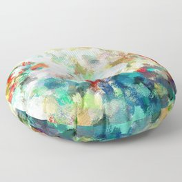 Spring Abstract Painting Floor Pillow