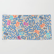 NUDE BEACH, pattern by Frank-Joseph Beach Towel