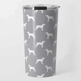 German Shorthair Pointer dog breed pet portraits dog silhouette unique dog breeds Travel Mug