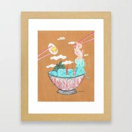 Sea Salt Ramen Framed Art Print