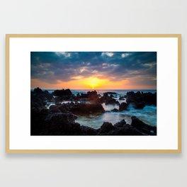 Hawaii Big Island Sunset Framed Art Print