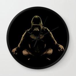Ape Meditating Wall Clock