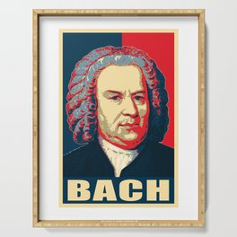 Johann Sebastian Bach Pop Art Serving Tray