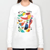 kitchen Long Sleeve T-shirts featuring Still life from god's kitchen by Picomodi