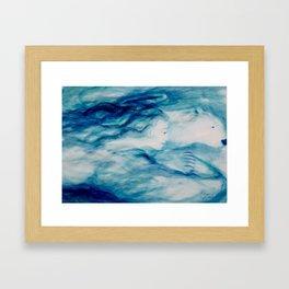 Blue Angel and the Polar Bear Framed Art Print