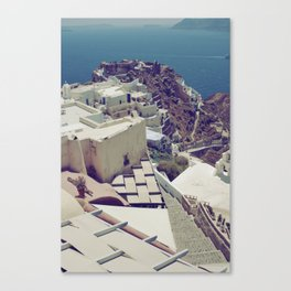 Santorini is for Lovers Canvas Print