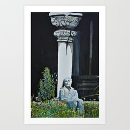 Meditating at the Cloisters Art Print