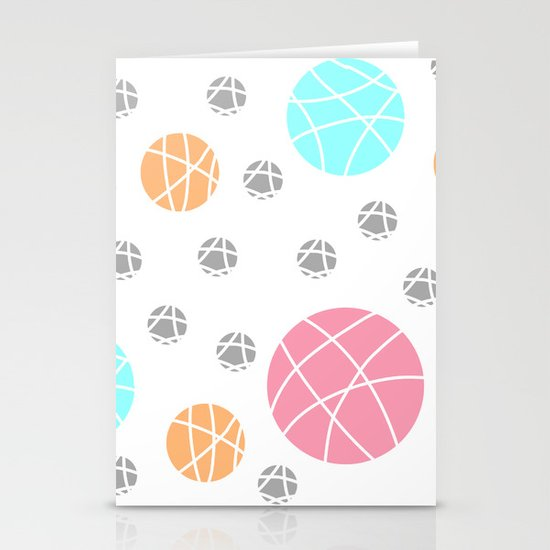 Broken Orbs (ColorOnWhite) Stationery Cards
