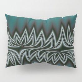 Fractal Tribal Art in Pacific Teal Pillow Sham