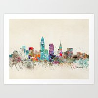 cleveland Art Prints featuring cleveland ohio by bri.buckley