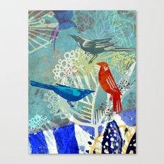 Birds in the backyard. Canvas Print