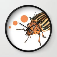 insect Wall Clocks featuring Insect by Chiara Martinelli Creations