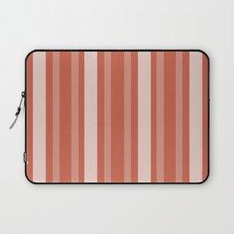 Dark Coral Victorian Lady Stripe Laptop Sleeve