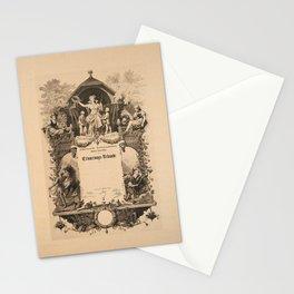 erinnerungs urkunde schweizerische vintage Poster Stationery Cards