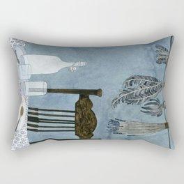Still life with dried herbs Rectangular Pillow