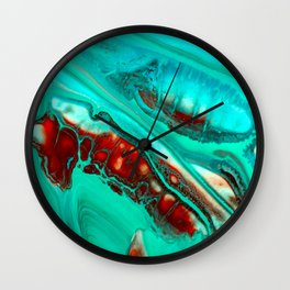 Turquoise abstract Wall Clock