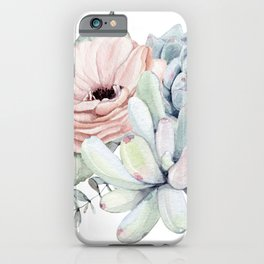 Pastel Succulents by Nature Magick iPhone Case