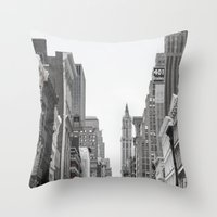 broadway Throw Pillows featuring Broadway - NY by Basma Gallery