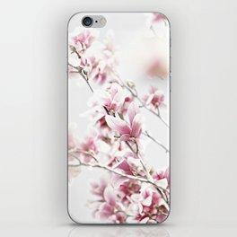 MAGNOLIA WHITE PINK iPhone Skin