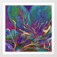 Grape Juice in January Art Print