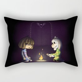 Frisk and Asriel Rectangular Pillow