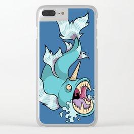 Unicorn Fish Clear iPhone Case