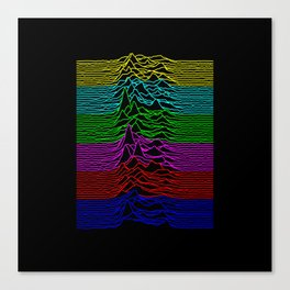 Joy Division - Unknown Televised Pleasures Canvas Print