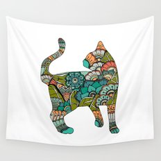 Vegetarian cat Wall Tapestry