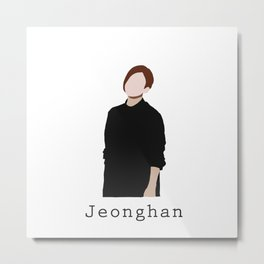 Seventeen - Jeonghan Metal Print