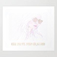 Shades the Color Blind Albino (in technicolor) Art Print