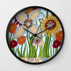 Garden of Compassion Wall Clock