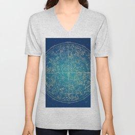 Zodiac and Stars Unisex V-Neck