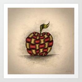 The Patchwork Apple Art Print