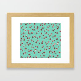 Peppermint Candy in Aqua Framed Art Print