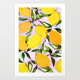 Citrus lemons Art Print