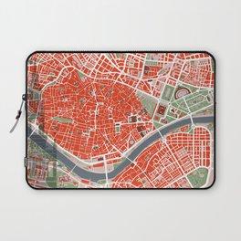 Seville city map classic Laptop Sleeve