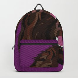Icons of the Dog Park Labradoodle Design in Bold Colors for Pet Lovers Backpack