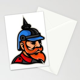 Prussian Officer Mascot Stationery Cards