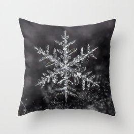 January Snowflake #7 Throw Pillow