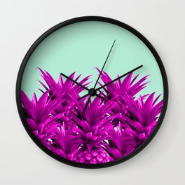 Funky Pineapples Wall Clock