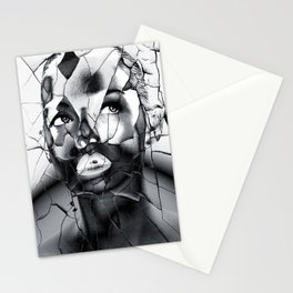 WOMAN IN BLACK WHITE Stationery Cards